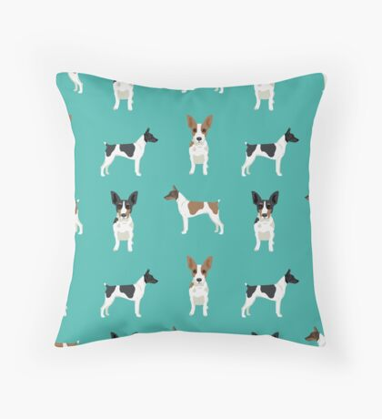 Rat Terrier dog breed pet art dog pattern gifts unique pure breed Throw Pillow