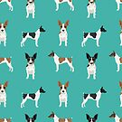 Rat Terrier dog breed pet art dog pattern gifts unique pure breed by PetFriendly