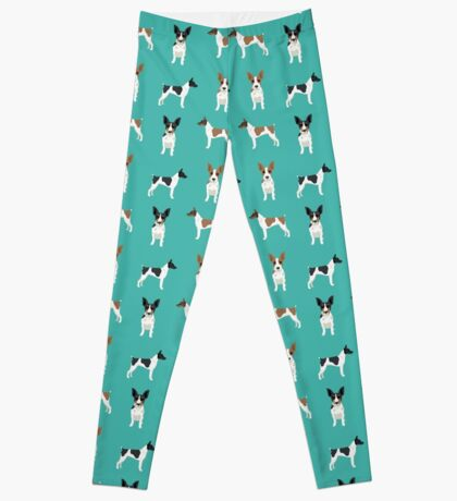 Rat Terrier dog breed pet art dog pattern gifts unique pure breed Leggings