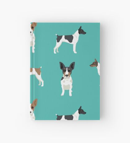 Rat Terrier dog breed pet art dog pattern gifts unique pure breed Hardcover Journal
