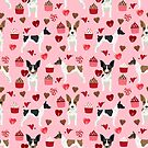 Rat Terrier valentines day cupcakes love hearts dog breed pet art dog pattern gifts unique pure breed by PetFriendly