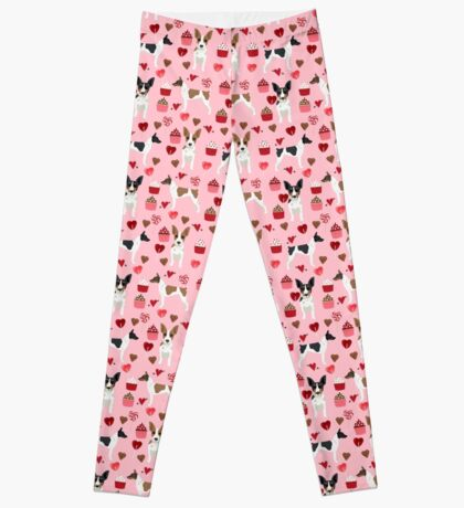 Rat Terrier valentines day cupcakes love hearts dog breed pet art dog pattern gifts unique pure breed Leggings