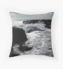 Raging Ocean Throw Pillow