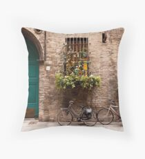 On the Street in Parma Throw Pillow