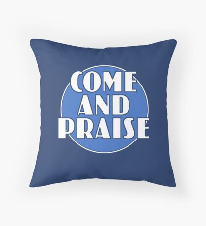 Come And Praise, 1980s school hymn book cover Throw Pillow