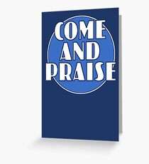 Come And Praise, 1980s school hymn book cover Greeting Card