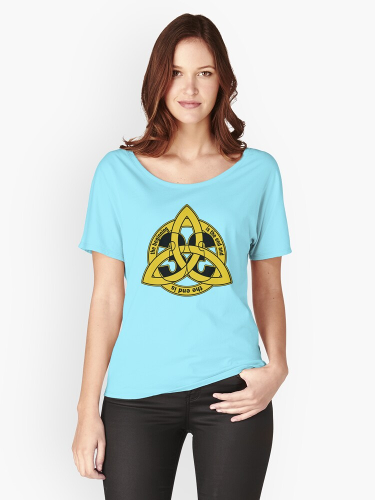 Triquetra Trinity Knot Dark Time Travel Symbol Womens Fitted