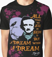 Edgar Allan Poe Dream Within A Dream Graphic T-Shirt