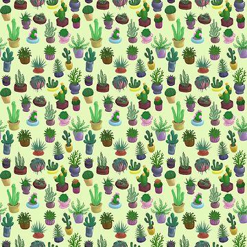 Succulents and Cacti yellow by Bantambb