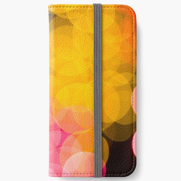 Bokeh abstract pink yellow circles iPhone Wallet