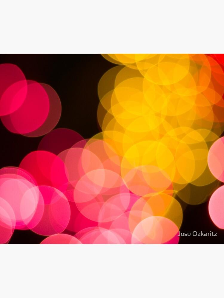 Bokeh abstract pink yellow circles by Joshollywood