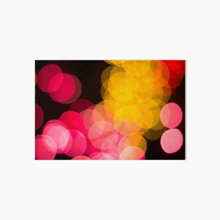 Bokeh abstract pink yellow circles Art Board Print