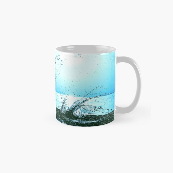 Blue water splash Classic Mug