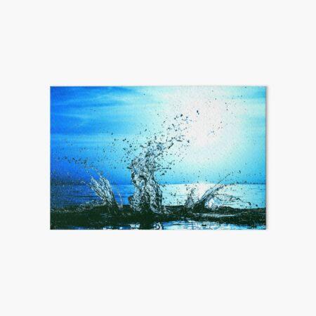 Blue water splash Art Board Print