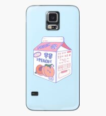 Peach Milk Carton Case/Skin for Samsung Galaxy