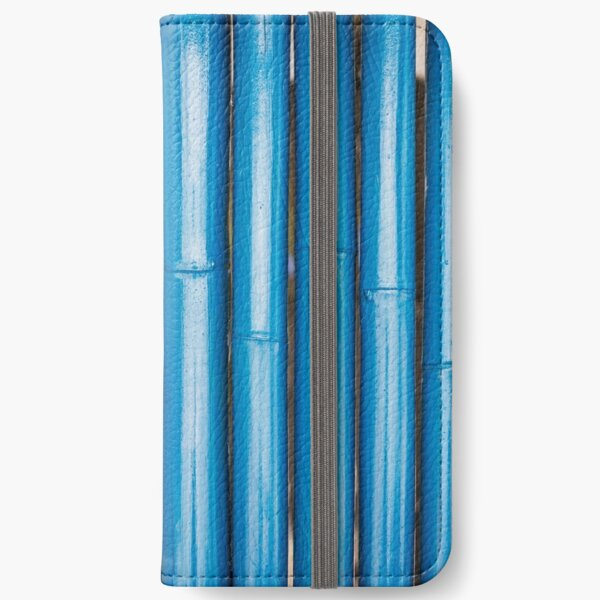 Blue bamboo canes background iPhone Wallet