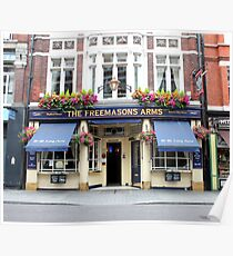 The Freemasons Arms Pub - © Doc Braham; All Rights Reserved. Poster