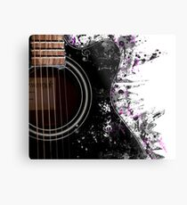 Guitar Graphics Metal Print