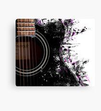 Guitar Graphics Canvas Print