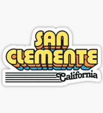 San Clemente, California | Retro Stripes Sticker