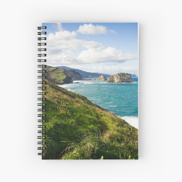 Basque Country coast landscape Spiral Notebook
