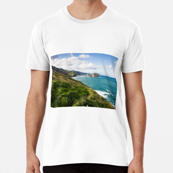 Basque Country coast landscape Premium T-Shirt
