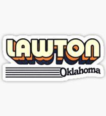 Lawton, Oklahoma | Retro Stripes Sticker