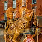 Wild Horse And Ancient Goddess Carvings by TSFPhotoCartoon