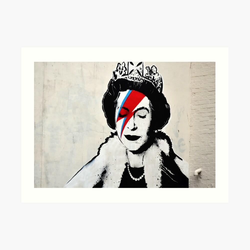 Banksy, Königin Kunstdruck