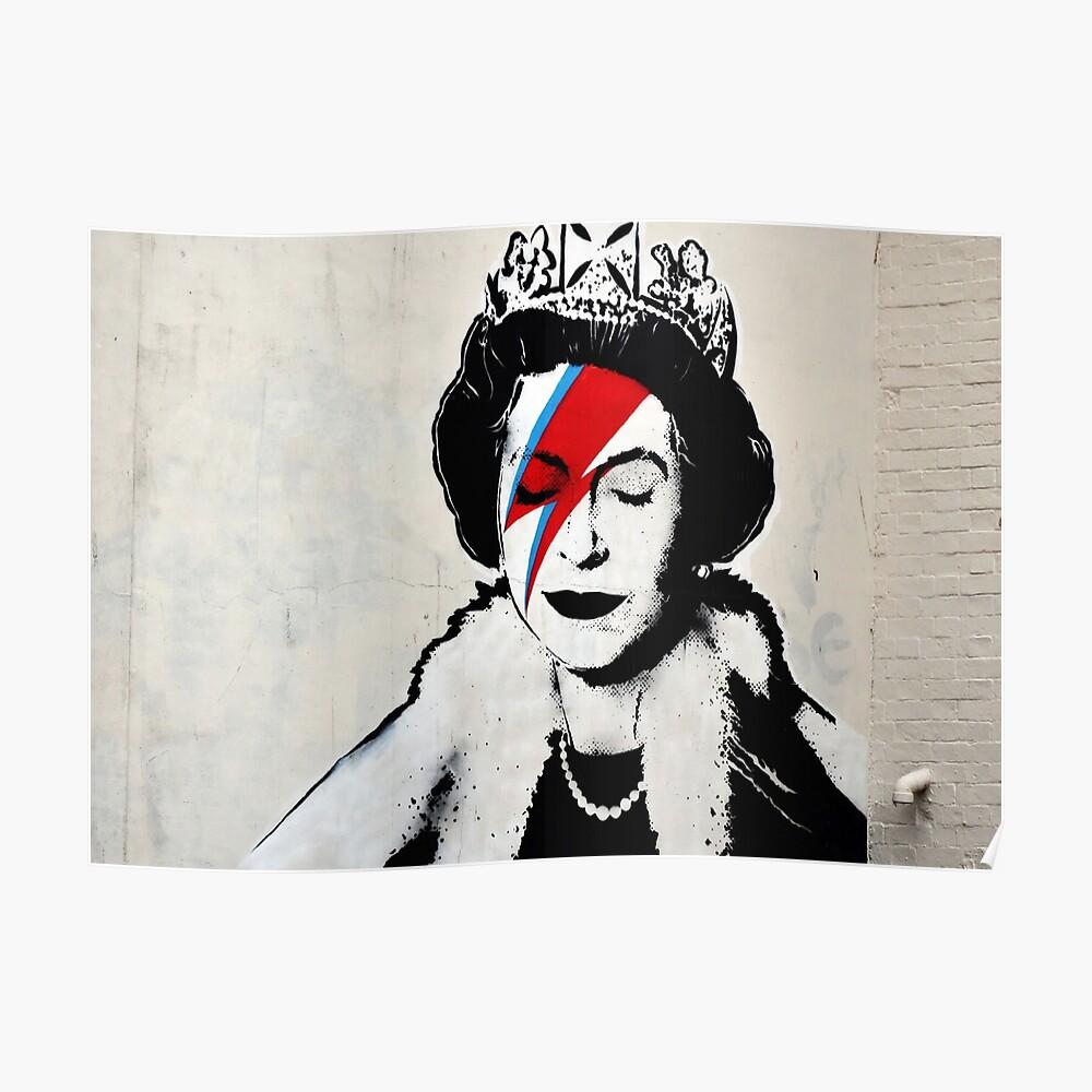 Banksy, Königin Poster