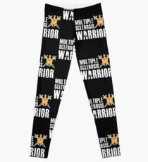 Multiple Sclerosis Warrior - MS Support Awareness Fighter Leggings