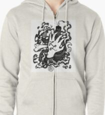 Lefthanded Lenya (official logo) Zipped Hoodie