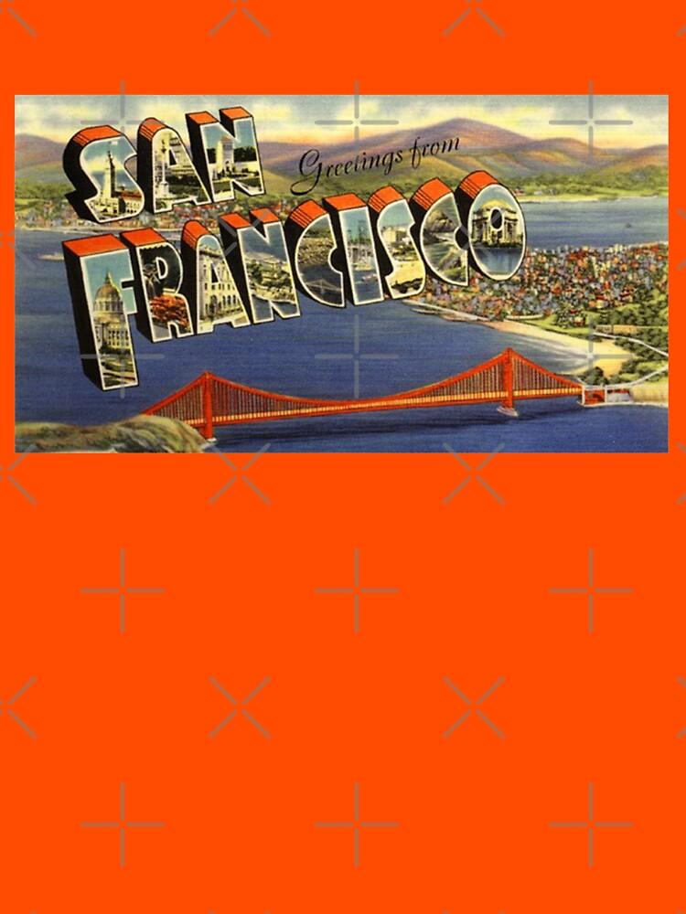Greetings from san francisco vintage postcard unisex t shirt by greetings from san francisco vintage postcard by drewaw m4hsunfo