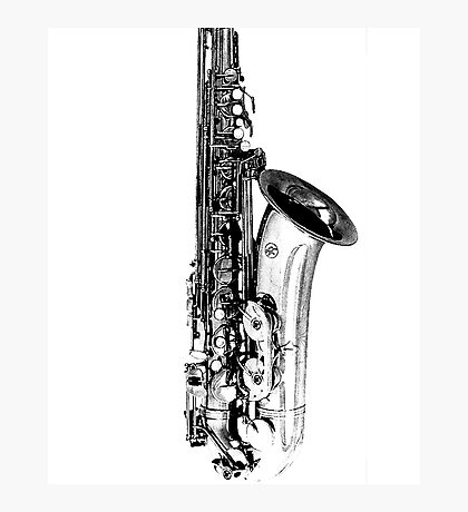 saxophone abstract Photographic Print