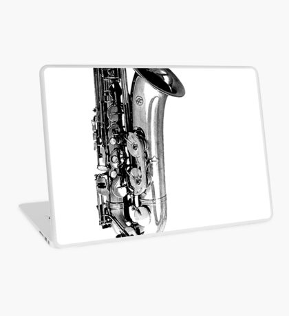 saxophone abstract Laptop Skin