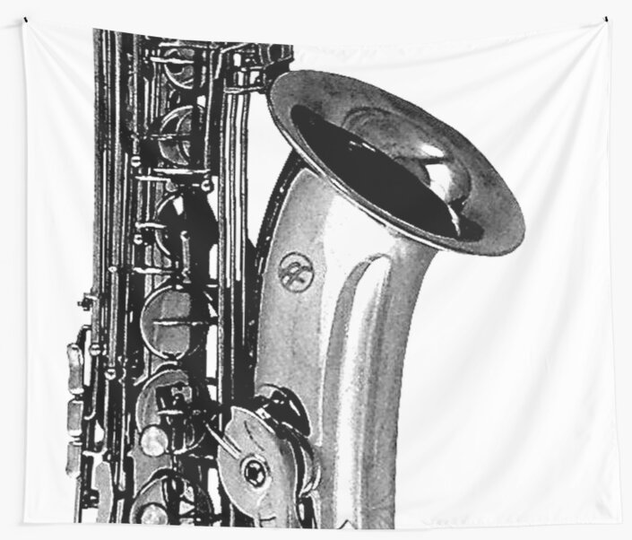 saxophone abstract by tinncity