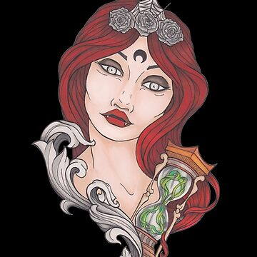 Vampire woman with hourglass by Galbrin