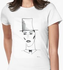Abstract sketch of face II Womens Fitted T-Shirt