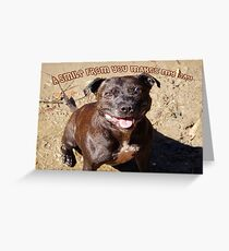 Staffie Smile Greeting Card