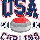 USA Curling T-Shirt 2018 Wintersportbekleidung von everydayjane