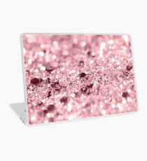 Rose Gold Blush Girls Glitter #1 #shiny #decor #art Laptop Skin