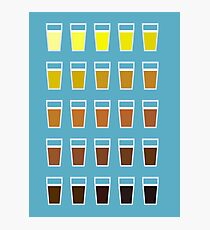 Colors and shades of beer Photographic Print