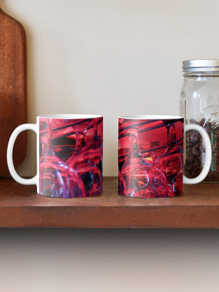 Alternate view of Pink glass background Mug
