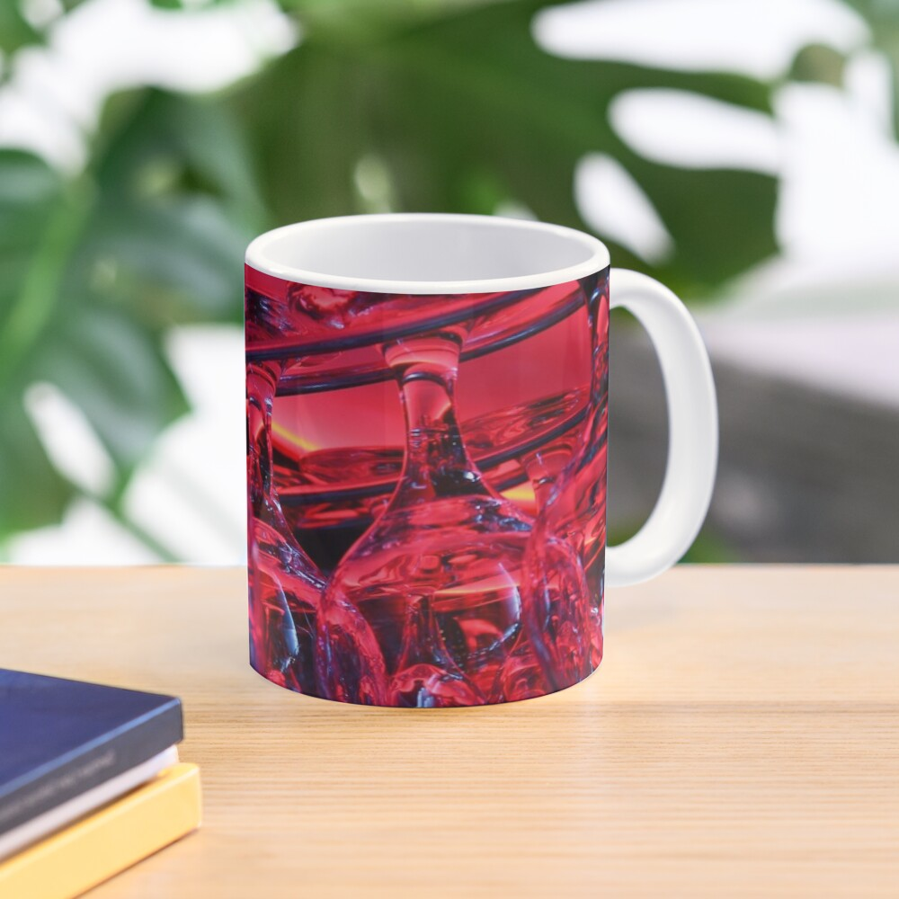 Pink glass background Mug