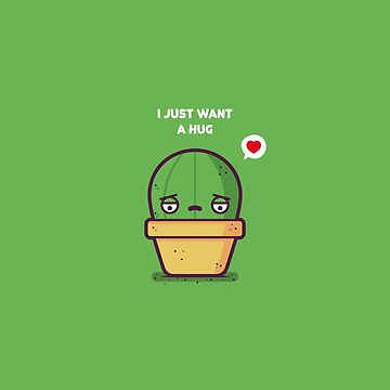 Cute (and sad) cactus in pot by spilu