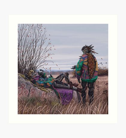 Vagabonds - The Magpie Charmer And Bub Art Print