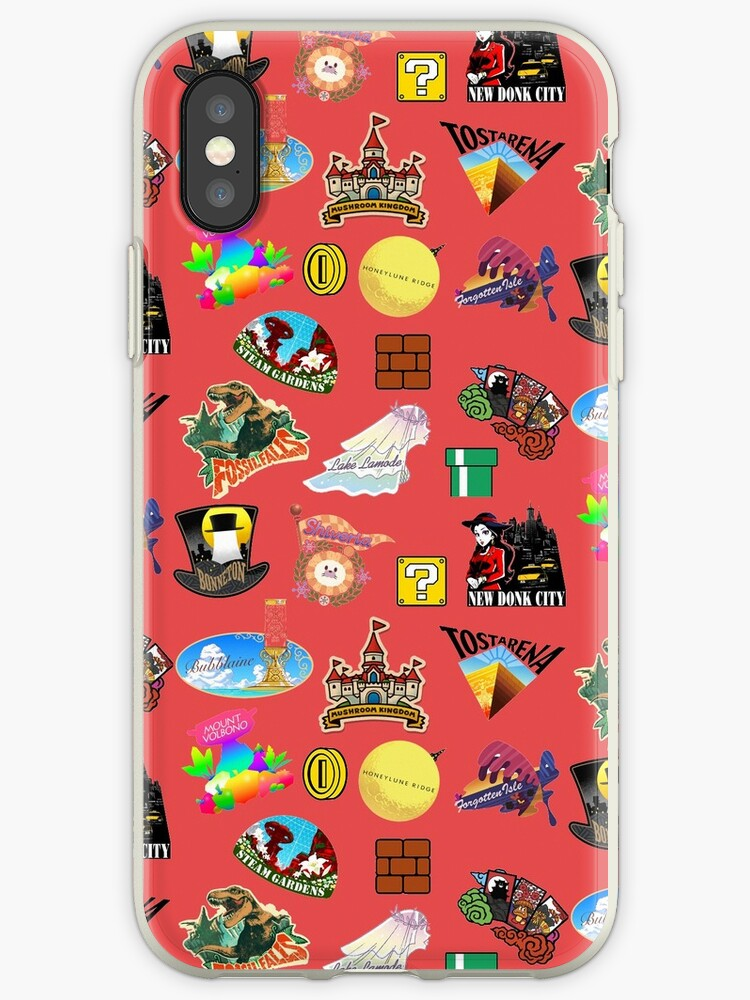 'Super Mario Odyssey Location Stickers XL for Individual' iPhone Case by  LouisvilleChief