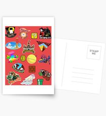 Super Mario Odyssey Location Stickers XL for Individual Postcards