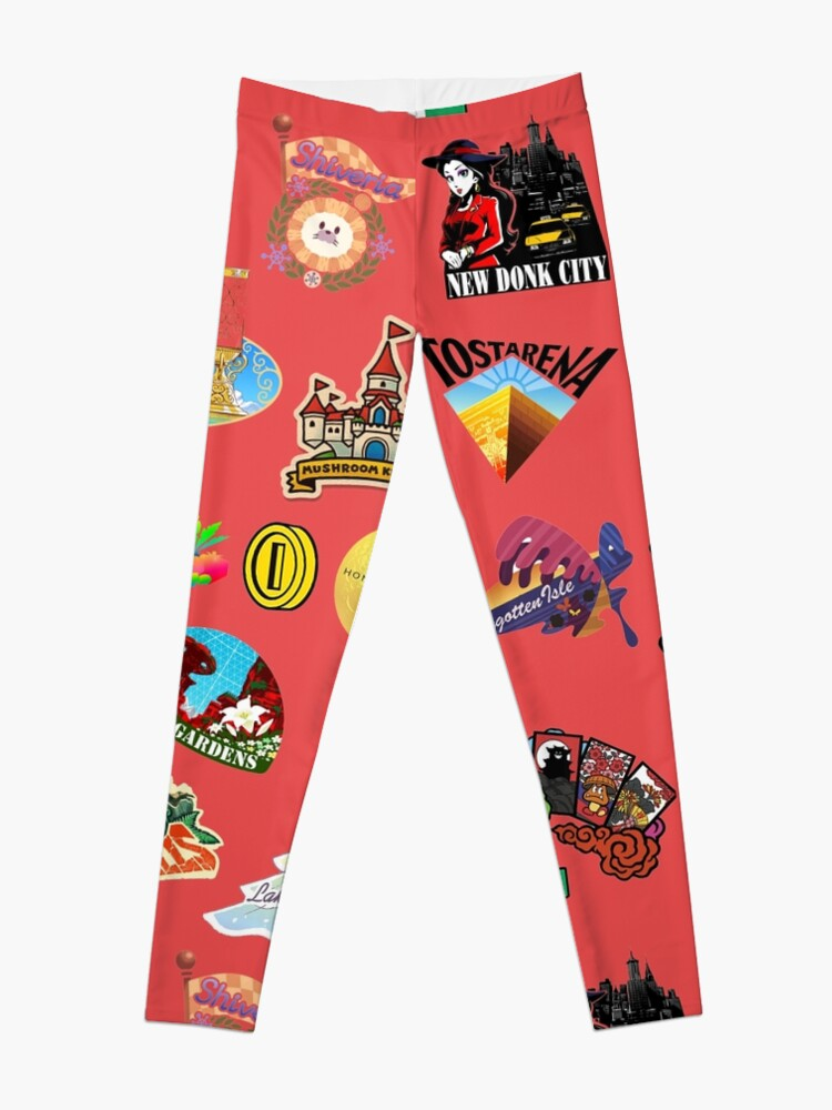 Super Mario Odyssey Location Stickers XL for Individual | Leggings