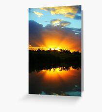 Last Light of Day Greeting Card